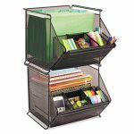safco-onyx-stackable-mesh-storage-bin-4-compartment-black-saf2164bl