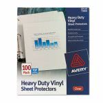 Avery Vinyl Sheet Protectors, Heavy Gauge, Letter, Clear, 100 per Box (AVE73900)