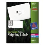 Avery 48163 EcoFriendly White Shipping Labels, 2 x 4, 1,000 Labels (AVE48163)