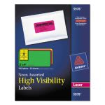 avery-high-visibility-laser-labels-2-x-4-assorted-neons-150pack-ave5978