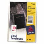 avery-top-load-clear-vinyl-envelopes-wthumb-notch-4-x-6-insert-size-10pack-ave74806