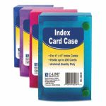 index-card-case-holds-200-4-x-6-cards-polypropylene-assorted-cli58046