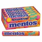 Mentos Chewy Mints, 1.32 oz, Mixed Fruit, 15 Rolls/Box (MEN4181)