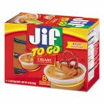 Smucker's Jif To Go, Creamy Peanut Butter, 1.5 oz Cup, 8/Box (SMU24136)