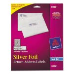 Avery 8986 Silver Foil Return Address Labels, 3/4 x 2-1/4, 300 Labels (AVE8986)