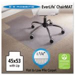"ES Robbins EverLife Cleated Lip Chair Mat, Vinyl, 45"" x 53"", Clear (ESR120123)"