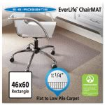 "ES Robbins Vinyl Cleated Chair Mat, 46"" x 60"", Clear, Rectangle (ESR120321)"