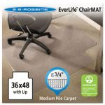 "Es Robbins 36x48 Lip Chair Mat, Prof Series for Carpet up to 3/4"" (ESR122073)"
