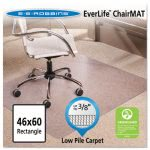 "ES Robbins Cleated Vinyl Chair Mat, Rectangle, 46"" x 60"", Clear (ESR128371)"