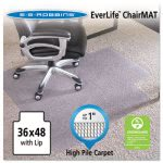 "ES Robbins Lip Chair Mat, For Carpet up to 1"", 36 x 48, Clear (ESR124054)"