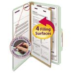 Smead Pressboard Classification Folders, 4-Section, Gray, 10 per Box (SMD18776)