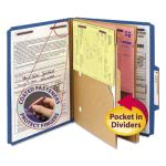 Smead Pressboard Folders, 2 Pocket Dividers, Letter, Blue, 10 per Box (SMD14077)