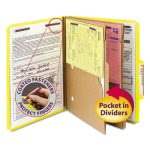 smead-pressboard-folders-with-two-pocket-dividers-letter-six-section-yellow-10box-smd14084