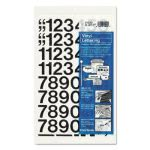 "Chartpak Press-On Vinyl Numbers, Self Adhesive, Black, 1""h, 44/Pack (CHA01130)"