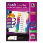 Avery Ready Index, Table of Contents Divider, 1-10, Multi, Letter (AVE11135)