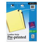 avery-gold-leather-tab-dividers-12-tab-letter-black-12set-ave11351