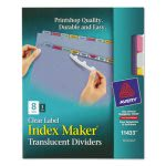 Avery Index Maker Label Punched Dividers, Multicolor 8-Tab, Letter (AVE11433)