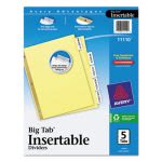 avery-worksaver-big-tab-reinforced-dividers-wclear-tabs-5-tab-buff-ave11110