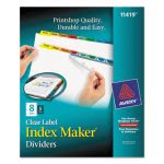 Avery Index Maker Divider w/Multicolor Tabs, 8-Tab, 5 Sets per Pack (AVE11419)
