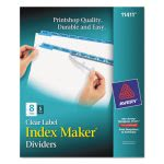 Avery Index Maker Divider, w/Blue 8-Tab, 5 Sets per Pack (AVE11411)