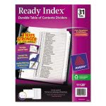 Avery Ready Index Classic Tab Titles, 1-31, Letter, 1 Set (AVE11128)