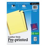 Avery Gold Reinforced Leather Tab Dividers, 1-31, Letter, 1 Set (AVE11352)