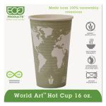 Renewable Resource Hot Cups, 16 oz, Green, 1,000 per Carton (ECOEPBHC16WA)