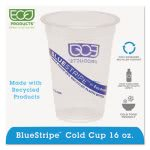 BlueStripe Recycled Content Plastic Drink Cups, 16 oz., 1000 cups (ECOEPCR16)