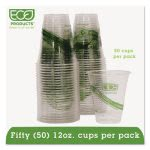 Greenstripe Renewable Compostable Cold Drink Cups, 12oz, 50 Cups (ECOEPCC12GSPK)