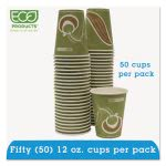 Eco-Products 24% PCF Hot Drink Cups, 12oz., 50 Cups (ECOEPBRHC12EWPK)