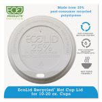 Recycled Content Hot Cup Lid, Fits 10-20 oz Cups, 1000 per Carton (ECOEPHL16WR)