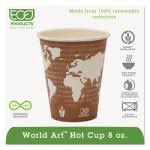 Renewable Resource Hot Drink Cups, 8 oz, Plum, 1000 per Carton (ECOEPBHC8WA)