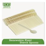 Eco-products Plant Starch Teaspoon, Cream, 50/Pack (ECOEPS003)