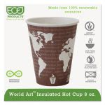 Eco-products Compostable Hot Cups, 8 oz., Maroon, 800 cups (ECOEPBNHC8WD)