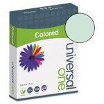 Universal Colored Paper, 20lb, 8-1/2 x 11, Green, 500 Sheets (UNV11203)