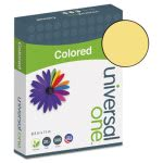 Universal Colored Paper, 20lb, 8-1/2 x 11, Goldenrod, 500 Sheets (UNV11205)