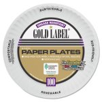 "Gold Label 6"" Coated Paper Plates, 1,200 Plates (AJMCP6OAWH)"