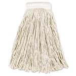 Rubbermaid V156 Cotton Mop Heads, 16-oz, Cut-End, White, 12 Mops (RCPV156)