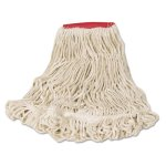 Rubbermaid D253 Super Stitch Looped-End Mop Head, Large, 6 Mops (RCPD253WHI)