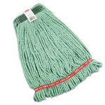 Rubbermaid A212 Web Foot Shrinkless Wet Mop Heads, Green, 6 Mops (RCPA212GRE)