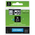 "Tape Cartridge for Dymo Label Makers, 1/4"" x 23', Black on Clear (DYM43610)"
