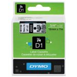"Tape Cartridge for Dymo Label Makers, 3/4"" x 23', Black on Clear (DYM45800)"
