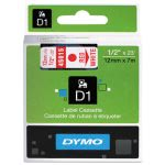 dymo-d1-standard-tape-cartridge-for-dymo-label-makers-12in-x-23ft-red-on-white-dym45015