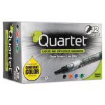 quartet-enduraglide-dry-erase-markers-chisel-tip-assorted-colors-12set-qrt500118m