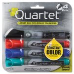 quartet-enduraglide-dry-erase-markers-bullet-tip-assorted-colors-4set-qrt50011m