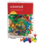 universal-colored-push-pins-plastic-gemstone-3-8-100-pack-unv31312