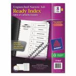 avery-ready-index-toc-unpunched-dividers-white-8-tab-letter-ave11164