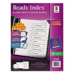 Avery Index Classic Tab Titles, 8-Tab,Letter, Black/White, 1 Set (AVE11132)