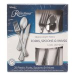 Wna Heavyweight Plastic Cutlery Combo: Fork, Knife, Spoon; 75 Pcs (WNA612375)