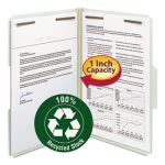 "Smead Recycled Pressboard Fastener Folders, Legal, 1"" Exp, 25 per Box (SMD20003)"